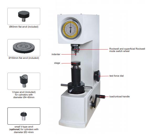 Durómetro Manual Rockweel y Superficial Rockwell